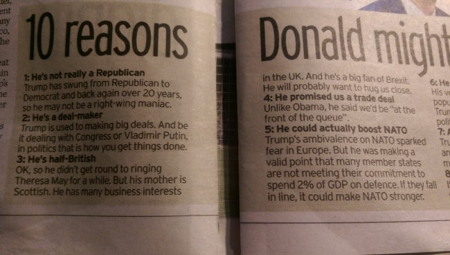 Donald TRump daily mirror