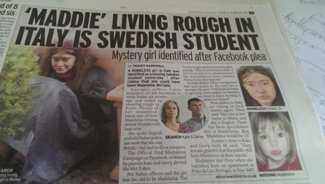 Madeleine McCann Sweden