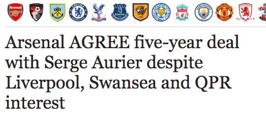 Serge Aurier Arsenal