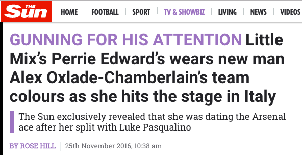 Oxlade-Chamberlain Perrie Edwards