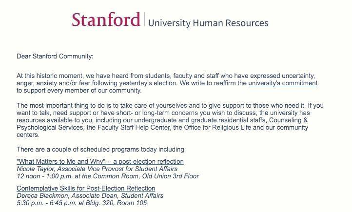 Stanford safe space