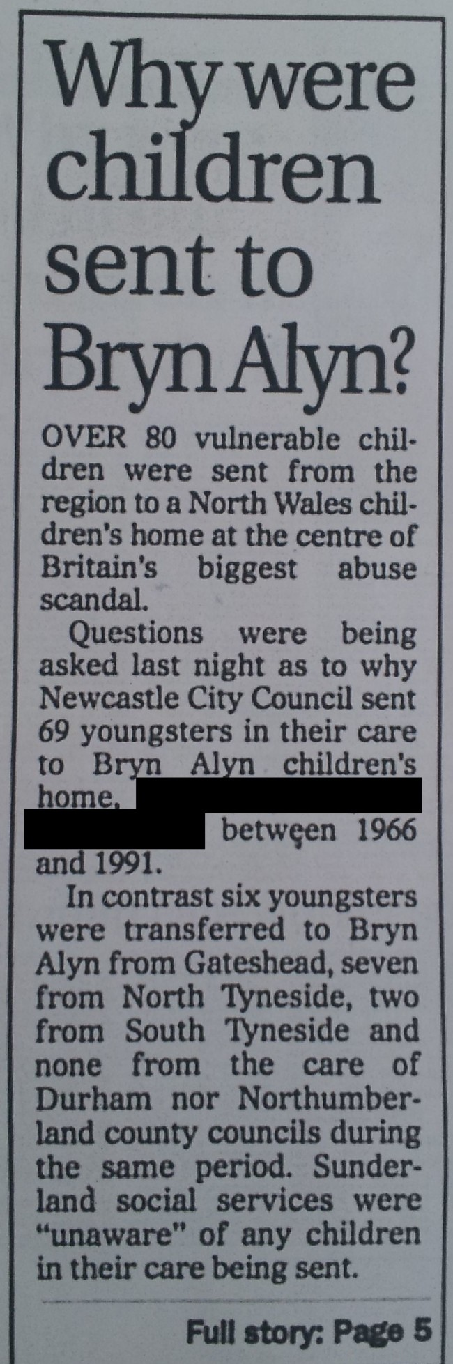 Newcastle Journal, 18th February 2000