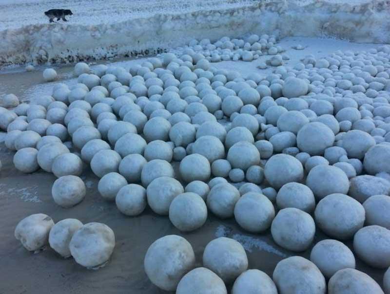 huge snowballs Russia