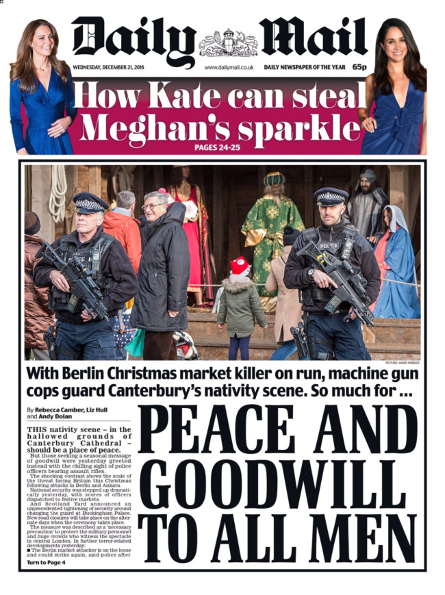 berlin massacre christmas market newspapers