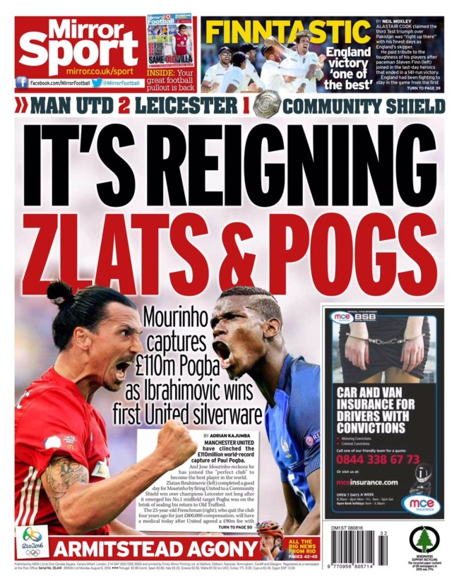 manchester-daily-mirror MAnchester United Manchester City