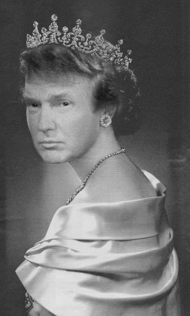 Queen Donald Trump: The Don becomes Her Majesty and Vice Versa in these unsettling pictures