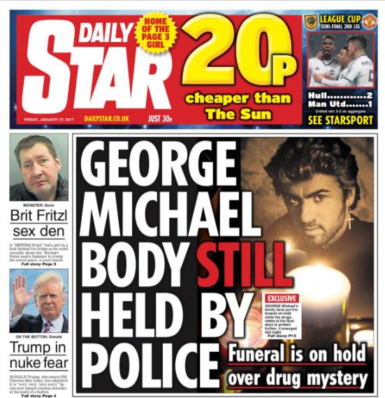 George Michael death daily star
