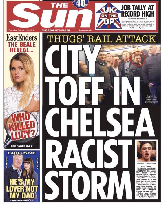 Paris Metro Chelsea fans racist