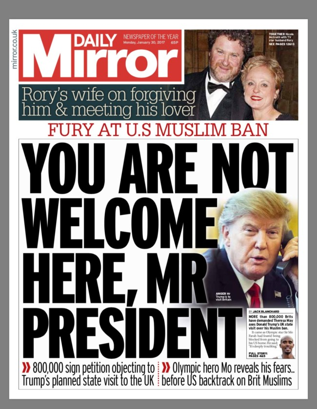 Daily Mirror trump