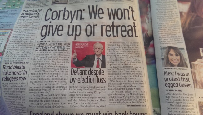 Corbyn sky news daily mirror