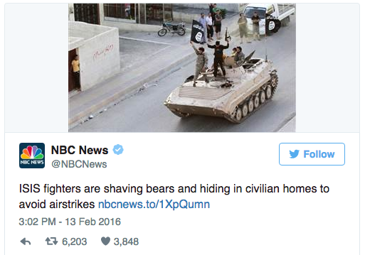 ISIS bears typo beards