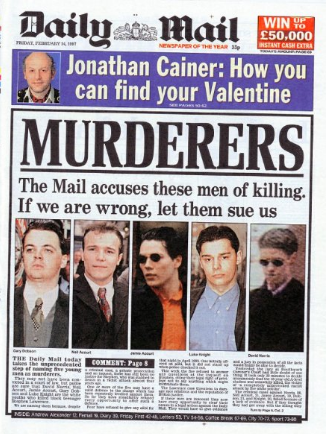 daily mail lawrence murderers