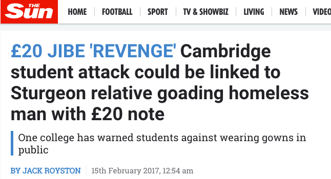 cambridge students cash burning