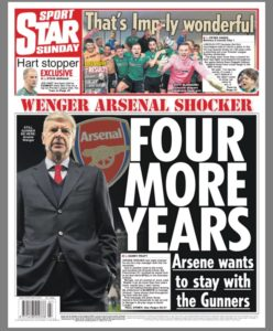 wenger daily star arsenal