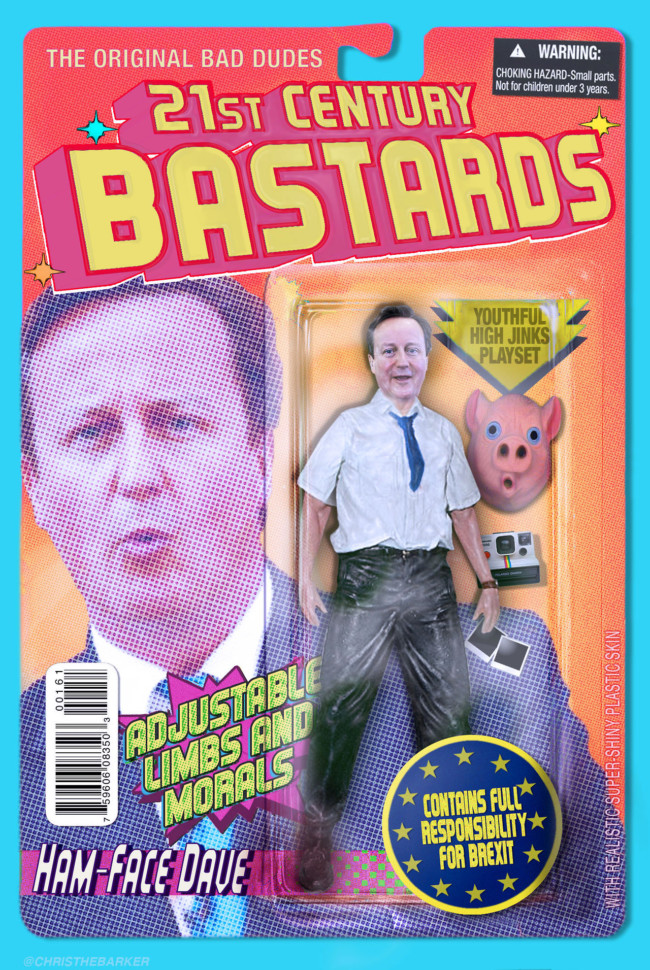 21st Century Bastards David Cameron - action figures for the post-truth age
