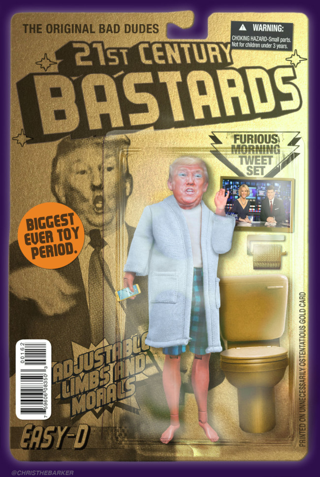 21st Century Bastards Donald TRump- action figures for the post-truth age