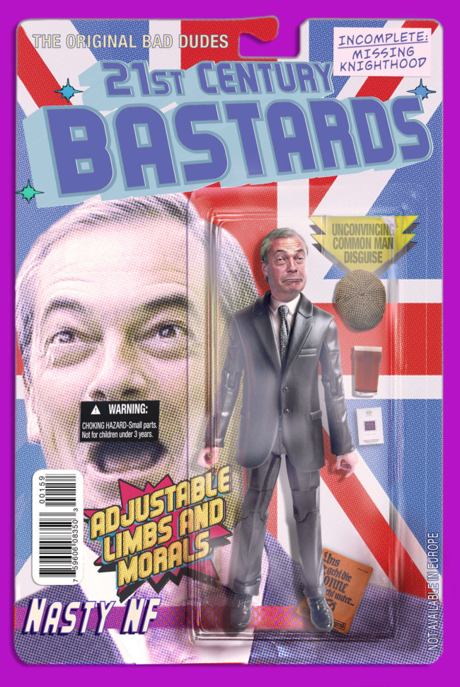 21st Century Bastards Nigel Farage - action figures for the post-truth age