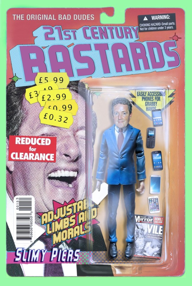 21st Century Bastards Piers Morgan - action figures for the post-truth age
