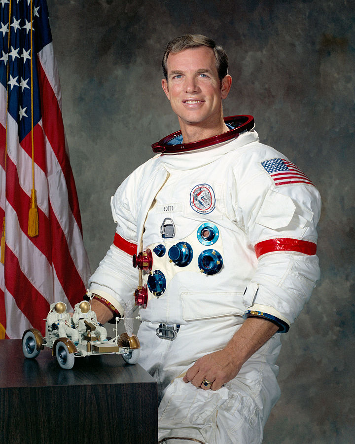Apollo 15 Commander David Scott.