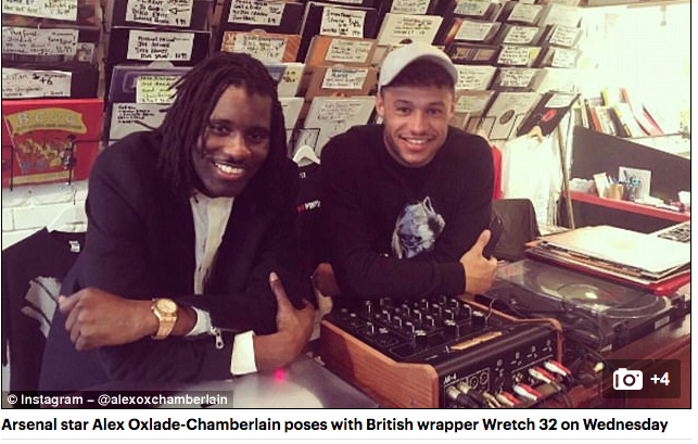 Alex Oxlade-Chamberlain Arsenal Daily Mail