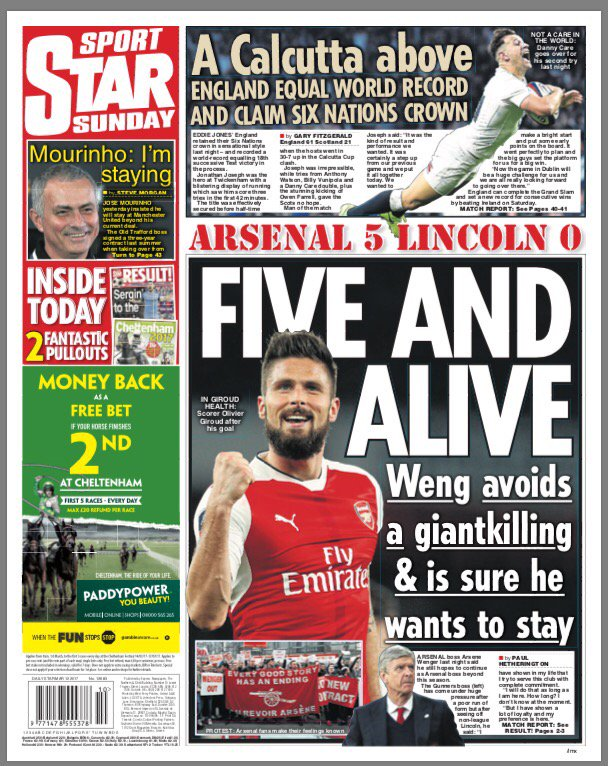 arsene wenger daily star