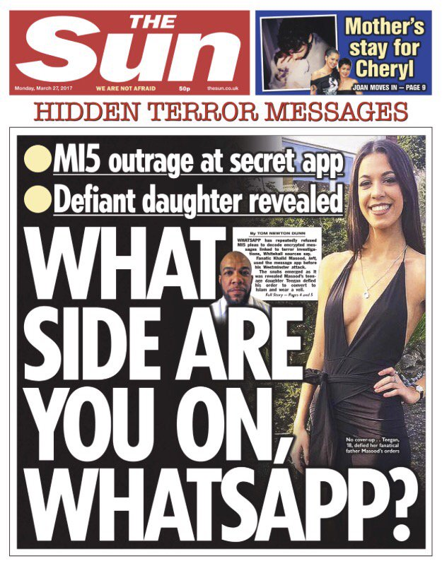 whatsapp terror the sun