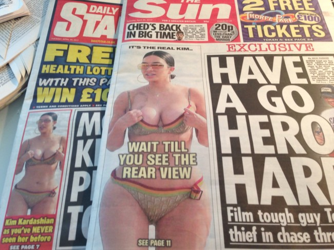 Kim Kardashian the sun arse