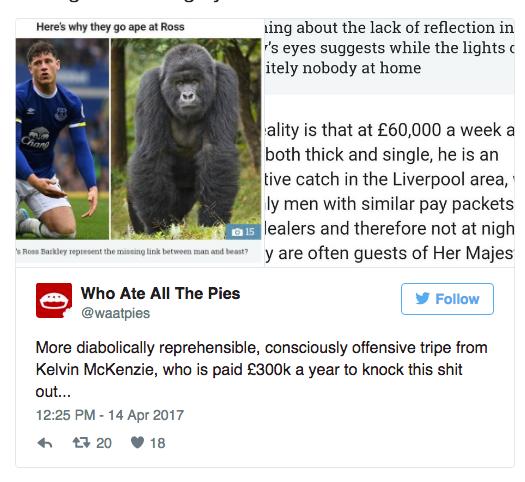 kelvin mackenzie ross everton gorilla