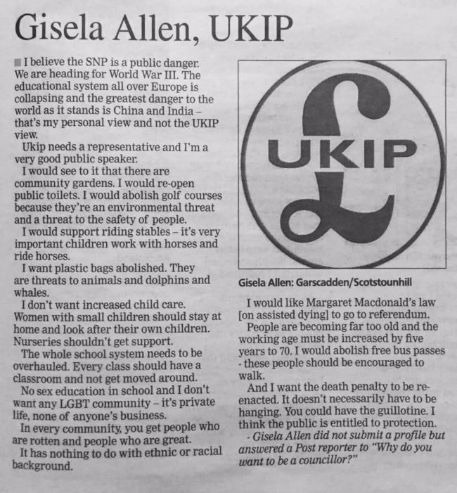 gisela allen UKIP