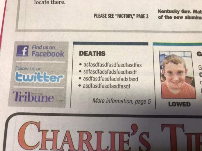 ironton tribune obituary funny fail