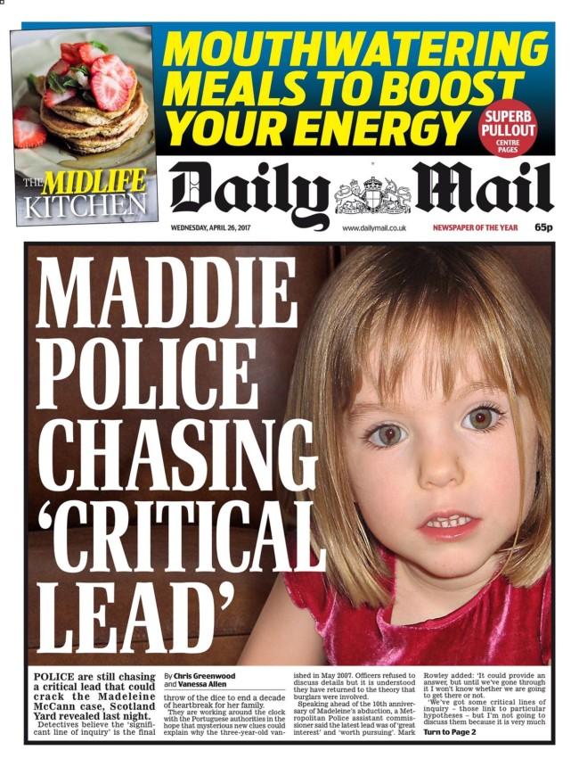 maddie mccann daily mail