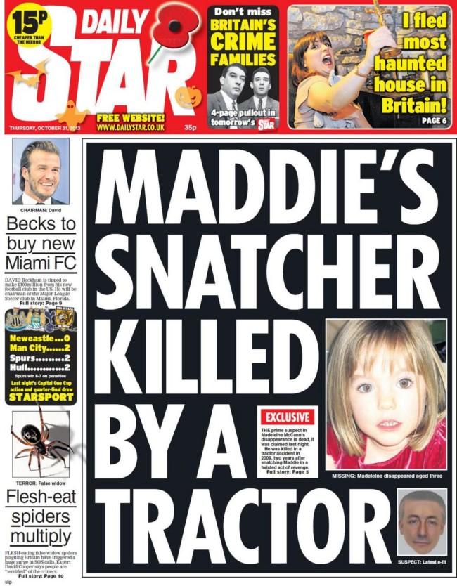 maddleine mccann suspect daily star