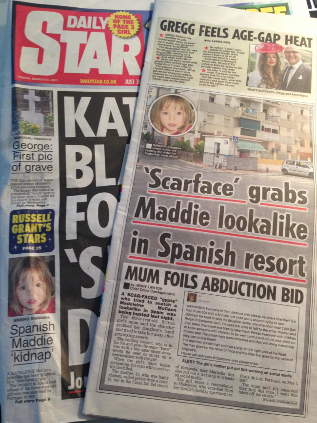 madeleine mccann daily star gypsies
