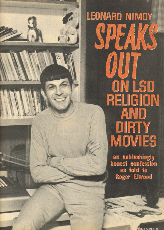 Leonard Nimoy Speaks Out on LSD, Religion and Dirty Movies b