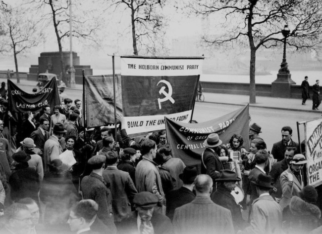 May 1, 1936 May Day Communist demonstration in Hyde Park, London.