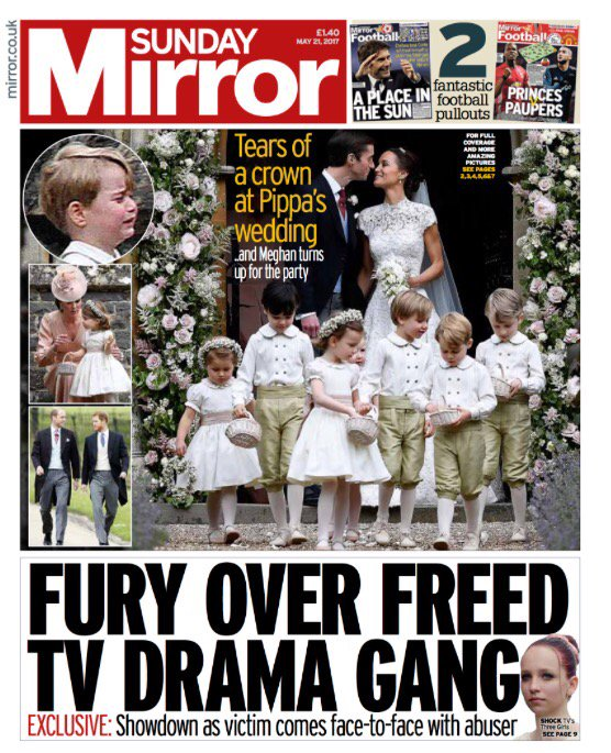 Pippa Middleton newspapers Prince George wedding James matthews