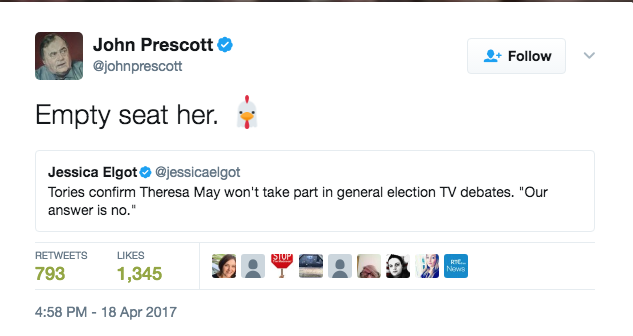john prescott tv debates may
