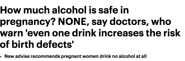 daily mail drinking pregnant