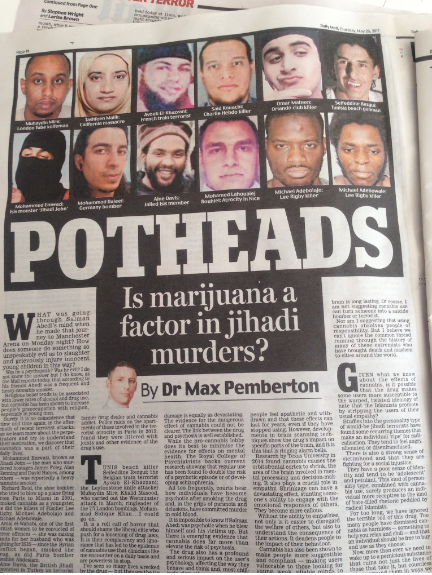 daily mail Salman Abdei marijuana drugs