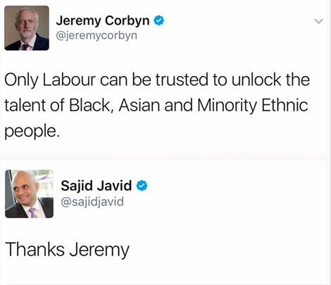 Jeremy Corbyn Javid