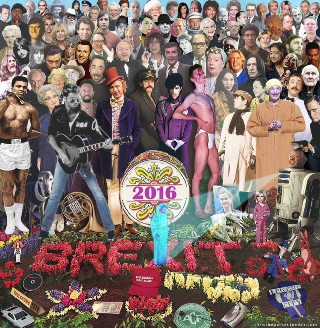 Sgt. Pepper's Album Cover Gets Reworked to Remember Icons Lost in 2016