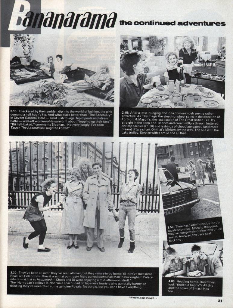 Smash Hits, April 15, 1982 – p.28 'Day on the Town'