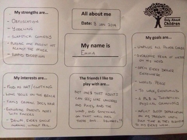 Dad Fills Out Daycare Questionnaire Honestly For His 11-month-old Daughter