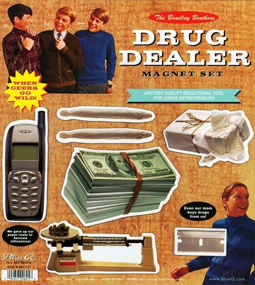 Drug Dealer MAgnet Set