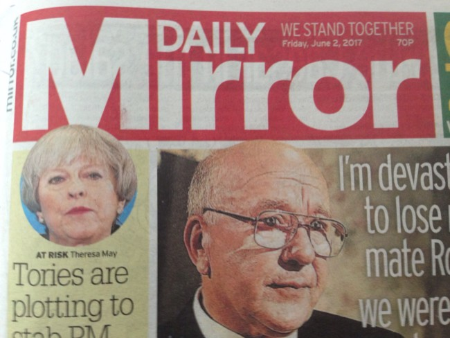 Theresa May tabloid biased reporting Jeremy Corbyn