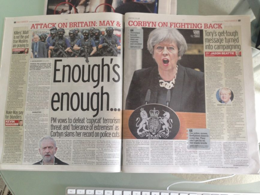 Theresa May terror speech mirror