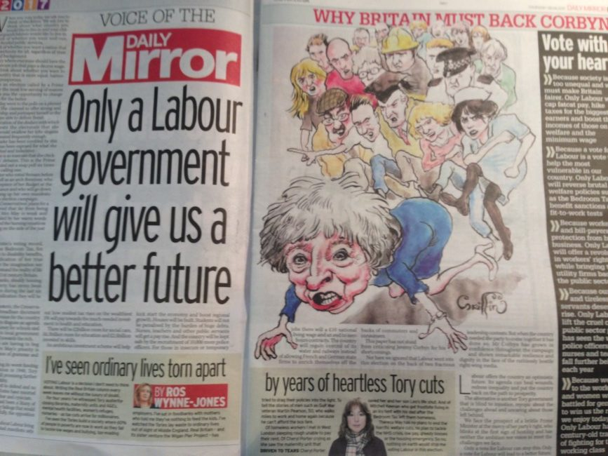 Theresa May the mirror