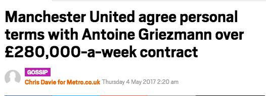 Antoine Griezman Manchester United