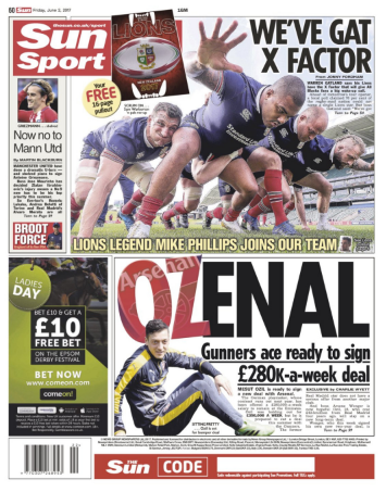 mesut Ozil transfer news arsenal the sun