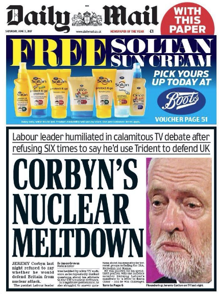 Jeremy Corbyn daily mail